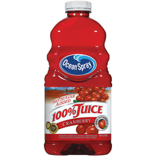 Ocean spray cranberry juice has a lot of added sugar