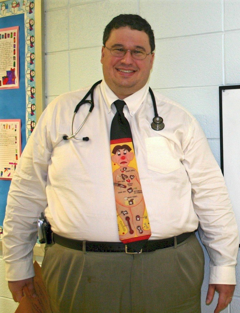 obese doctor