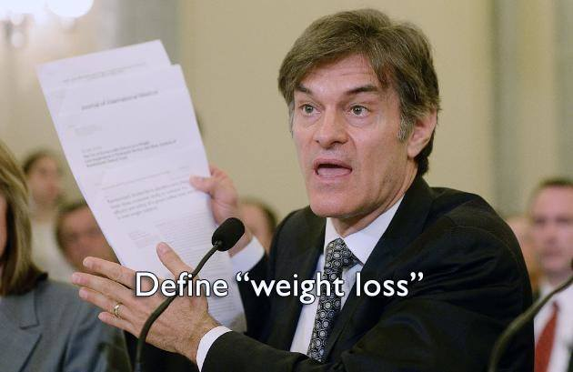 Dr Oz gives bad weight loss advice