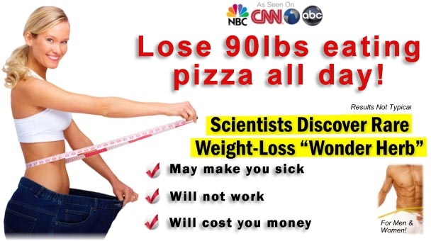 Weight loss fad diet ads